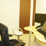 温かみのある雰囲気の診察室